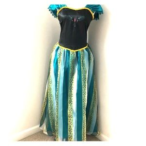 Disney Dresses - Princess Anna Frozen Cosplay Dress Gown sz S